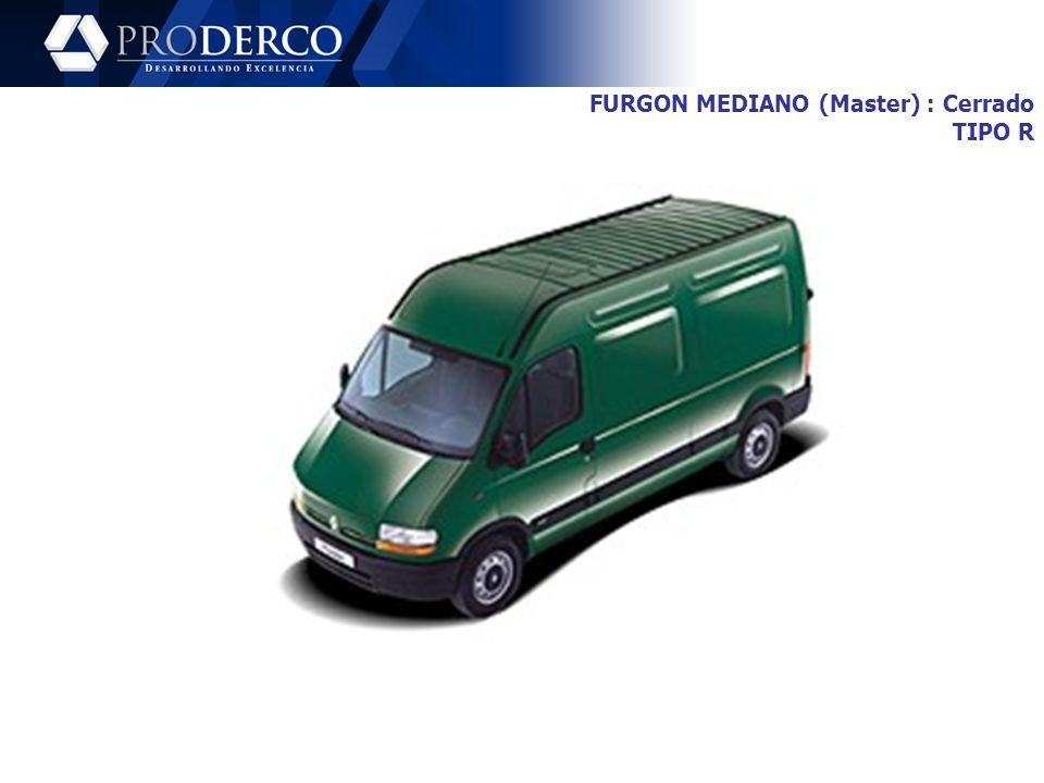 FURGON MEDIANO (Master) : Cerrado TIPO R