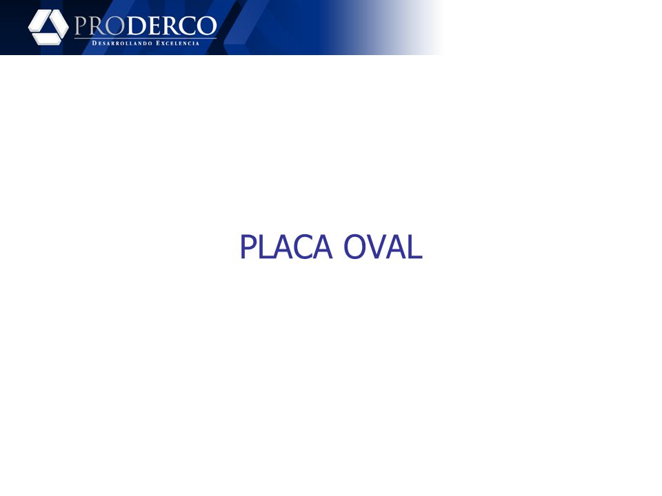PLACA OVAL