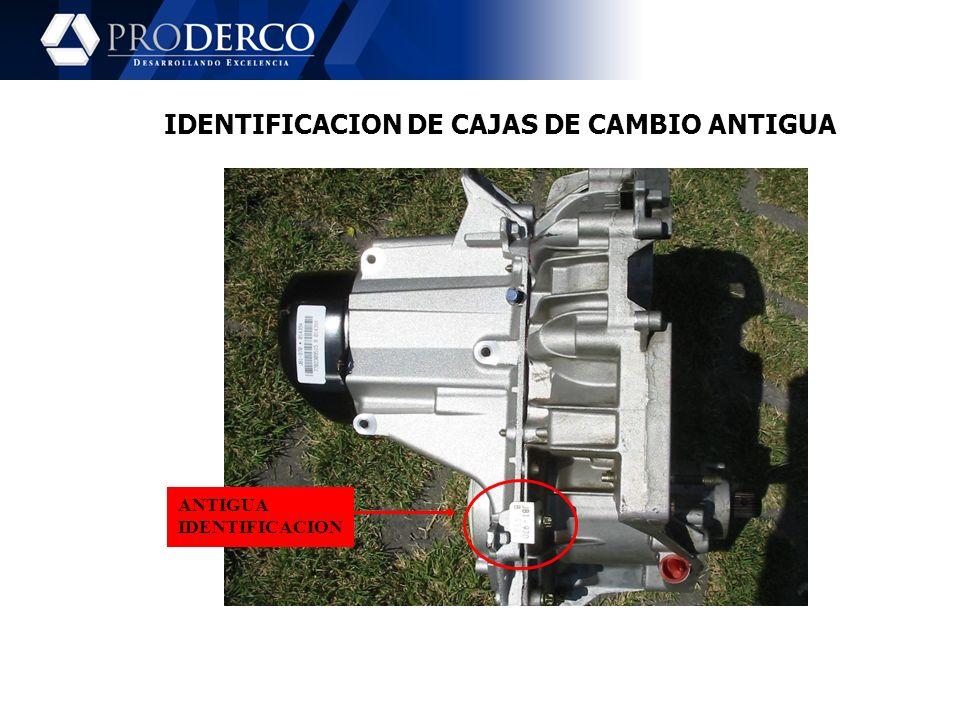 IDENTIFICACION DE CAJAS DE CAMBIO ANTIGUA