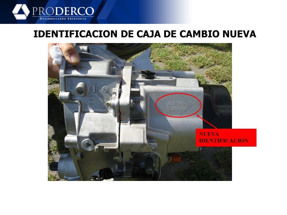 IDENTIFICACION DE CAJA DE CAMBIO NUEVA