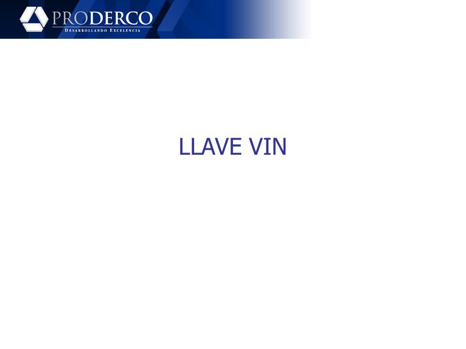 LLAVE VIN