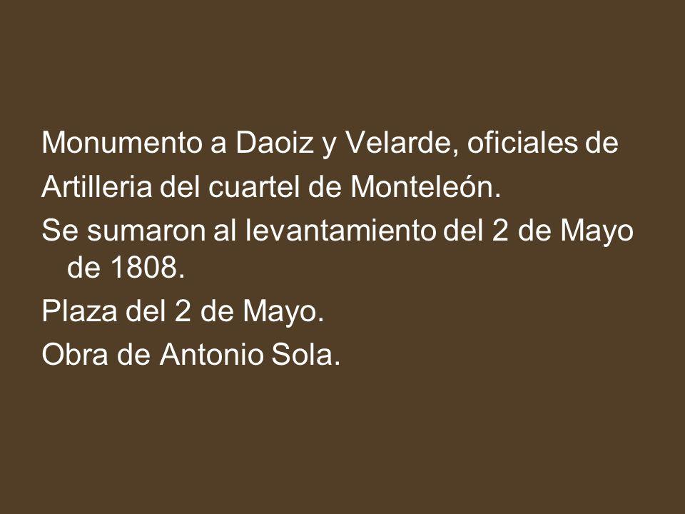Monumento a Daoiz y Velarde, oficiales de