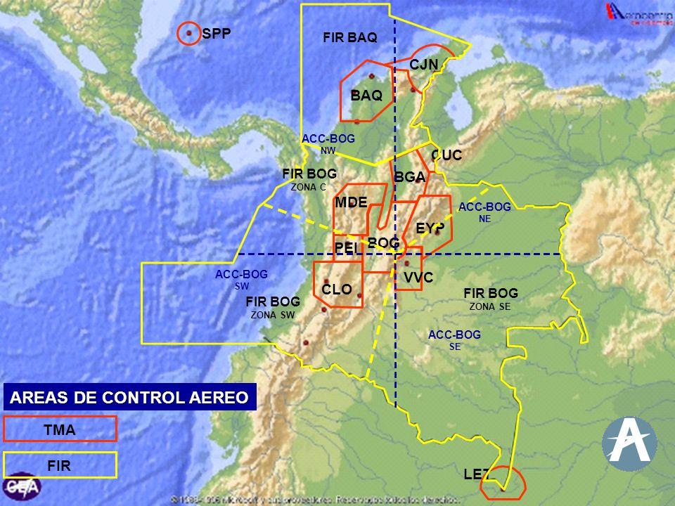 AREAS DE CONTROL AEREO AREAS DE CONTROL AEREO SPP CJN BAQ CUC BGA MDE
