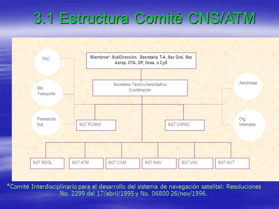 3.1 Estructura Comité CNS/ATM