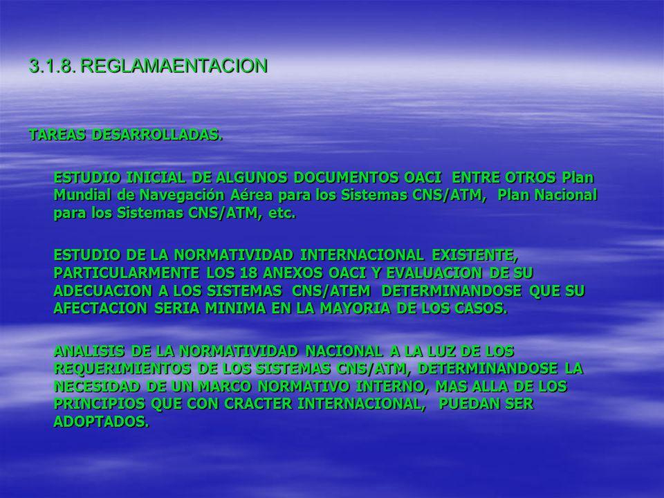 3.1.8. REGLAMAENTACION TAREAS DESARROLLADAS.