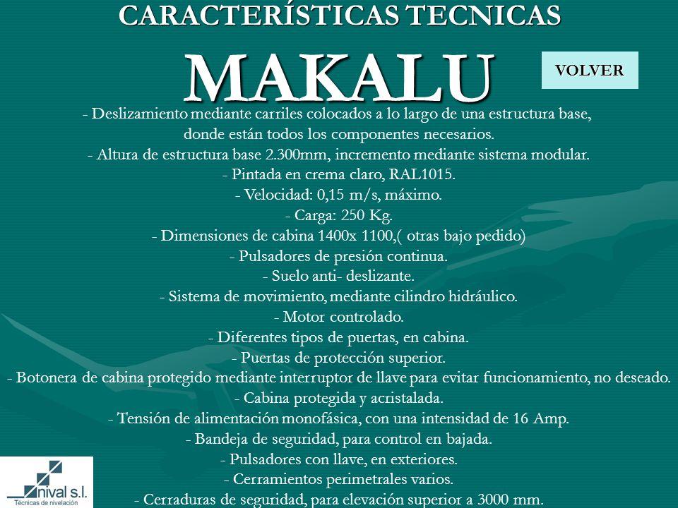 CARACTERÍSTICAS TECNICAS MAKALU