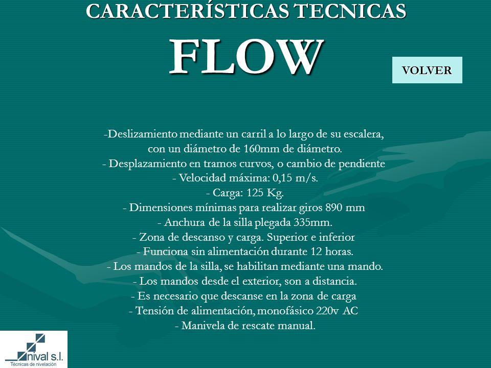 CARACTERÍSTICAS TECNICAS FLOW