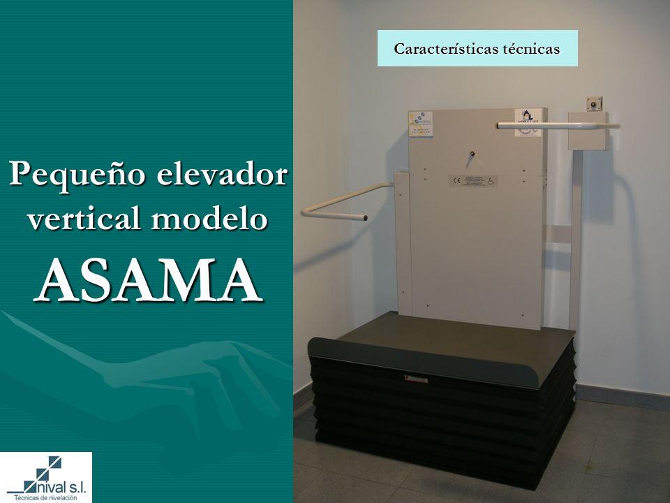 Pequeño elevador vertical modelo ASAMA