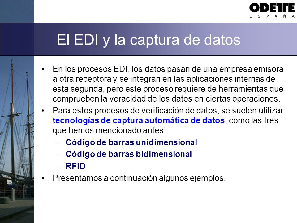El EDI y la captura de datos