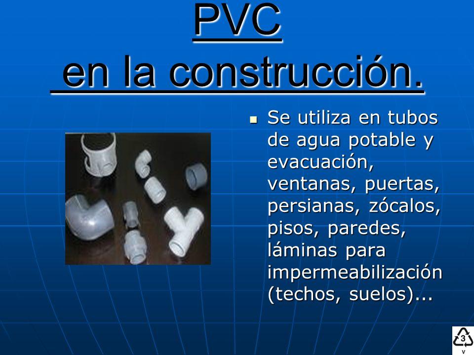 PVC en la construcción.