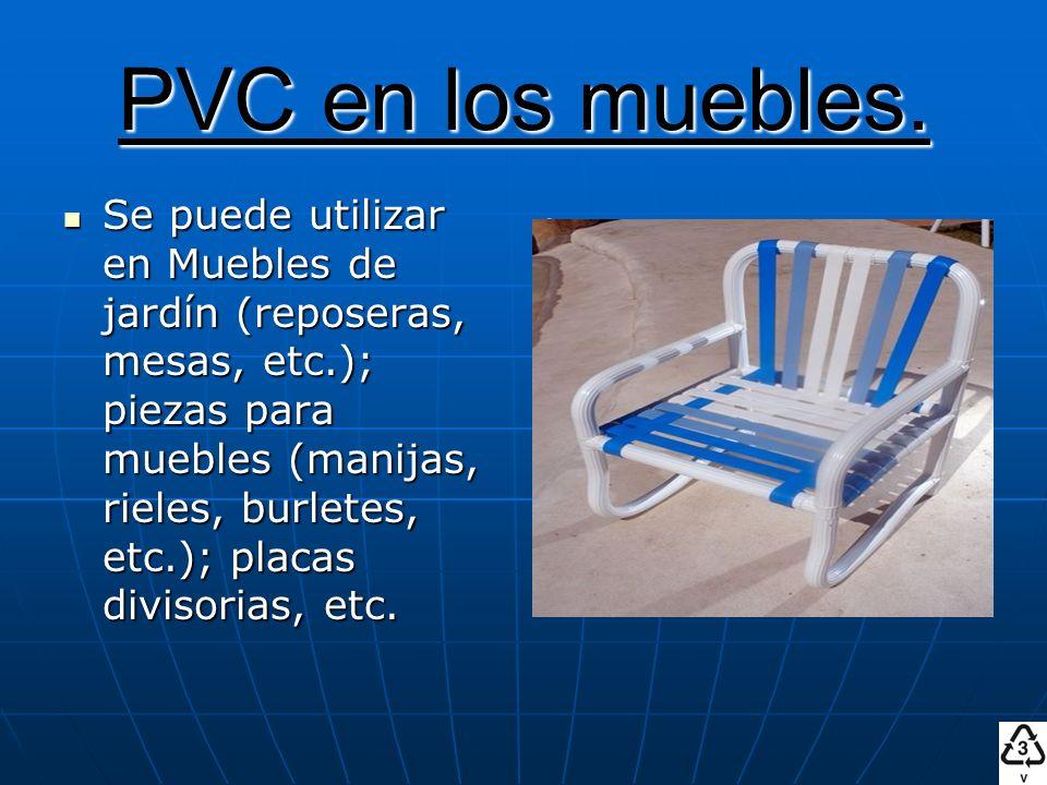 PVC en los muebles.