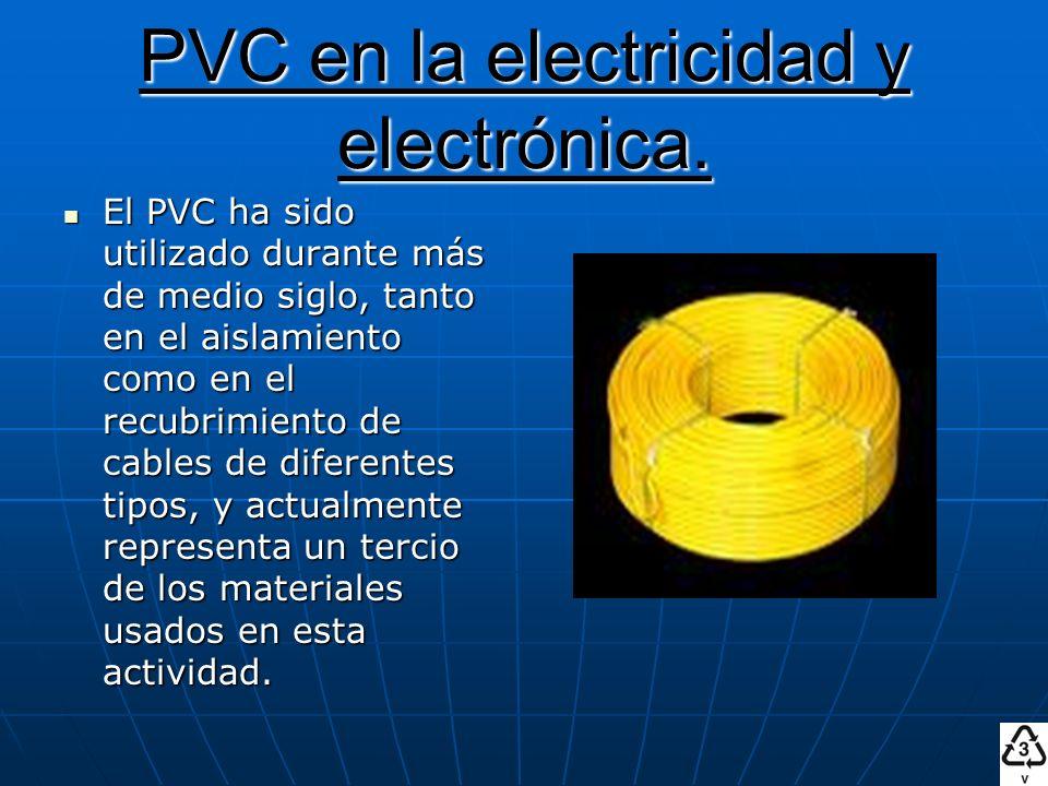 PVC en la electricidad y electrónica.