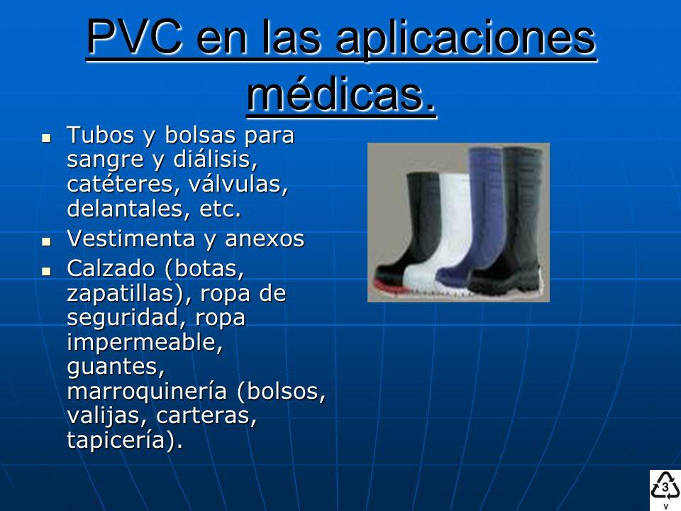 PVC en las aplicaciones médicas.