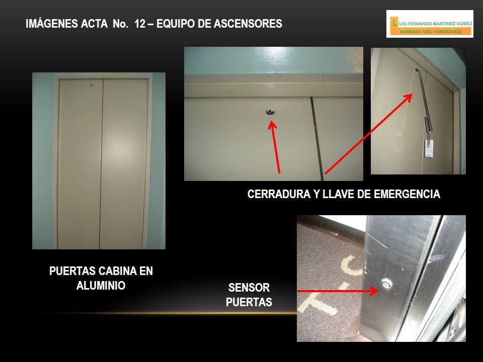 CERRADURA Y LLAVE DE EMERGENCIA PUERTAS CABINA EN ALUMINIO