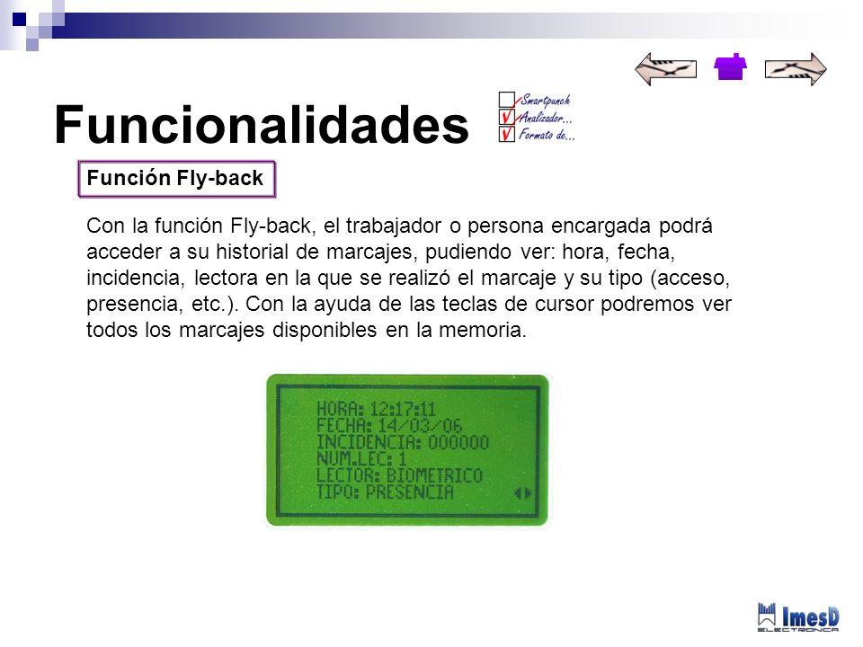 Funcionalidades Función Fly-back