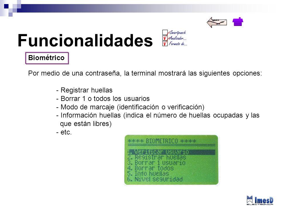 Funcionalidades Biométrico