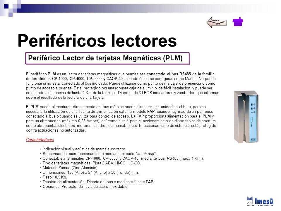 Periféricos lectores Periférico Lector de tarjetas Magnéticas (PLM)