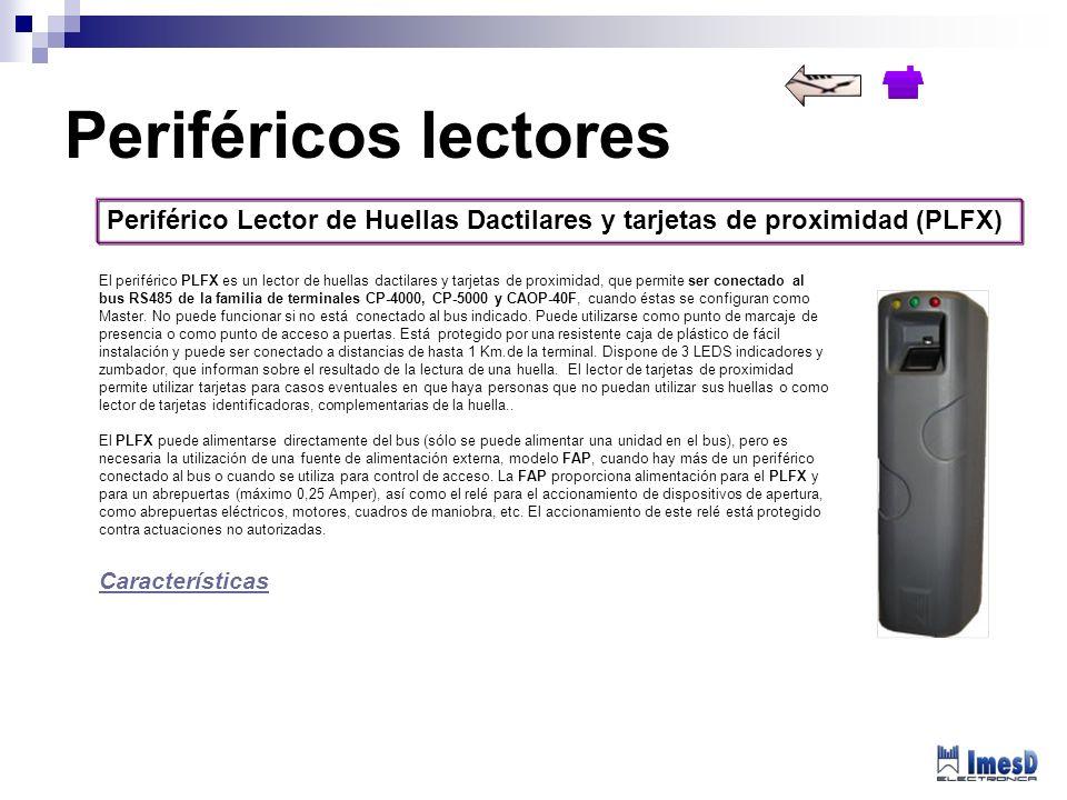 Periféricos lectores Periférico Lector de Huellas Dactilares y tarjetas de proximidad (PLFX)