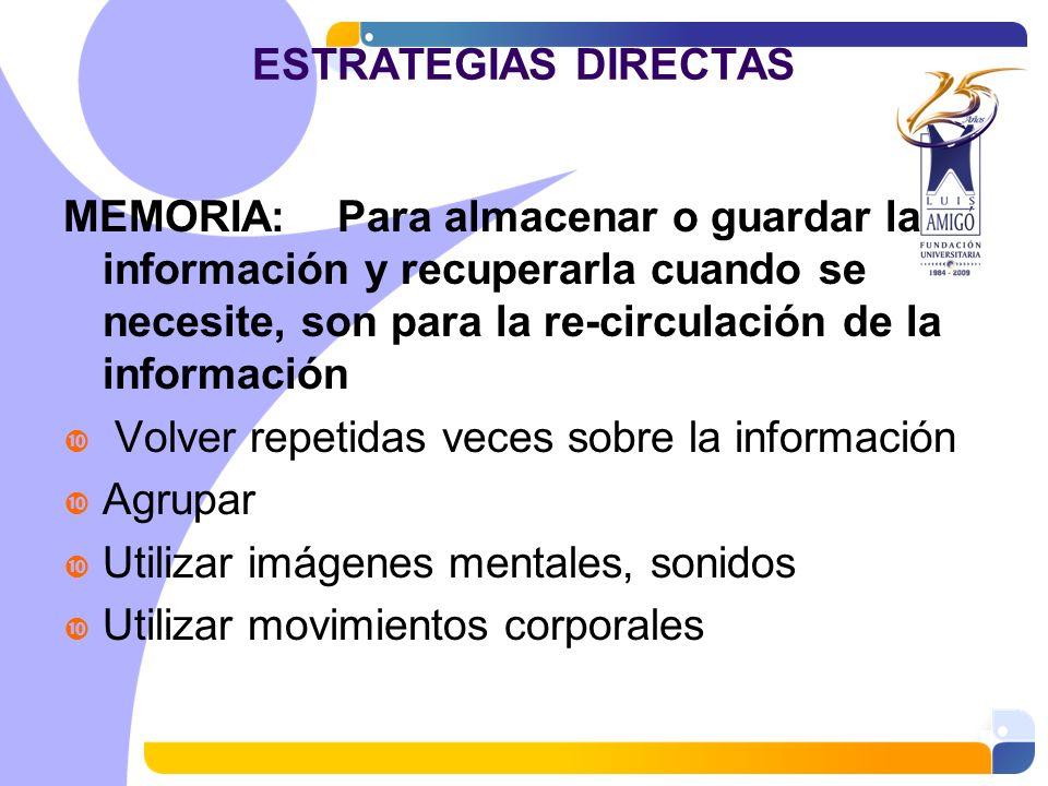 ESTRATEGIAS DIRECTAS