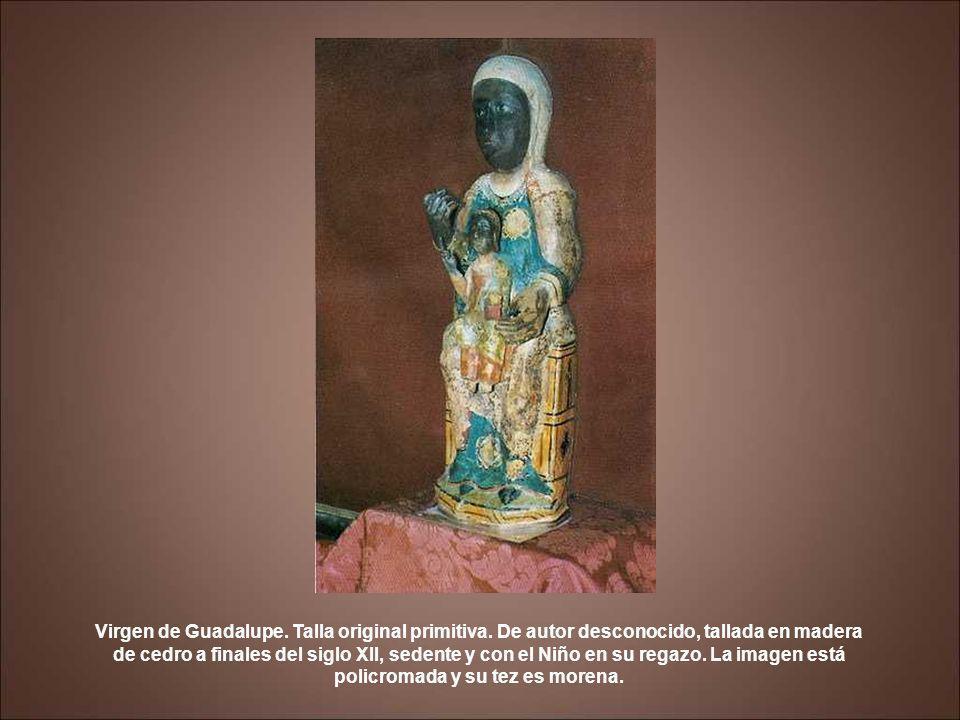 Virgen de Guadalupe. Talla original primitiva