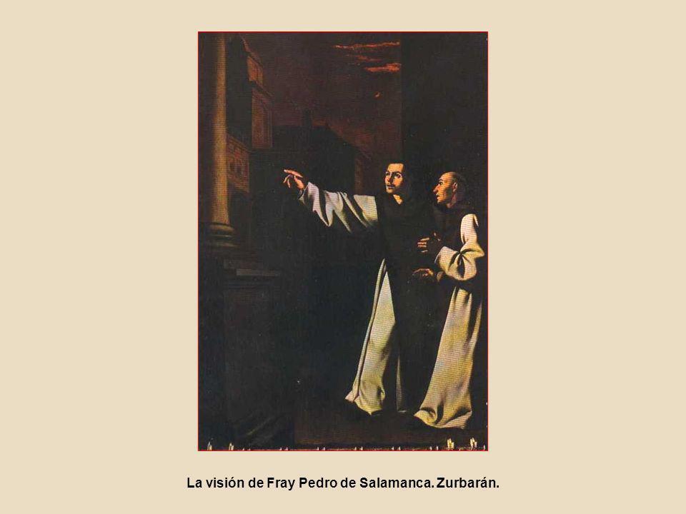 La visión de Fray Pedro de Salamanca. Zurbarán.