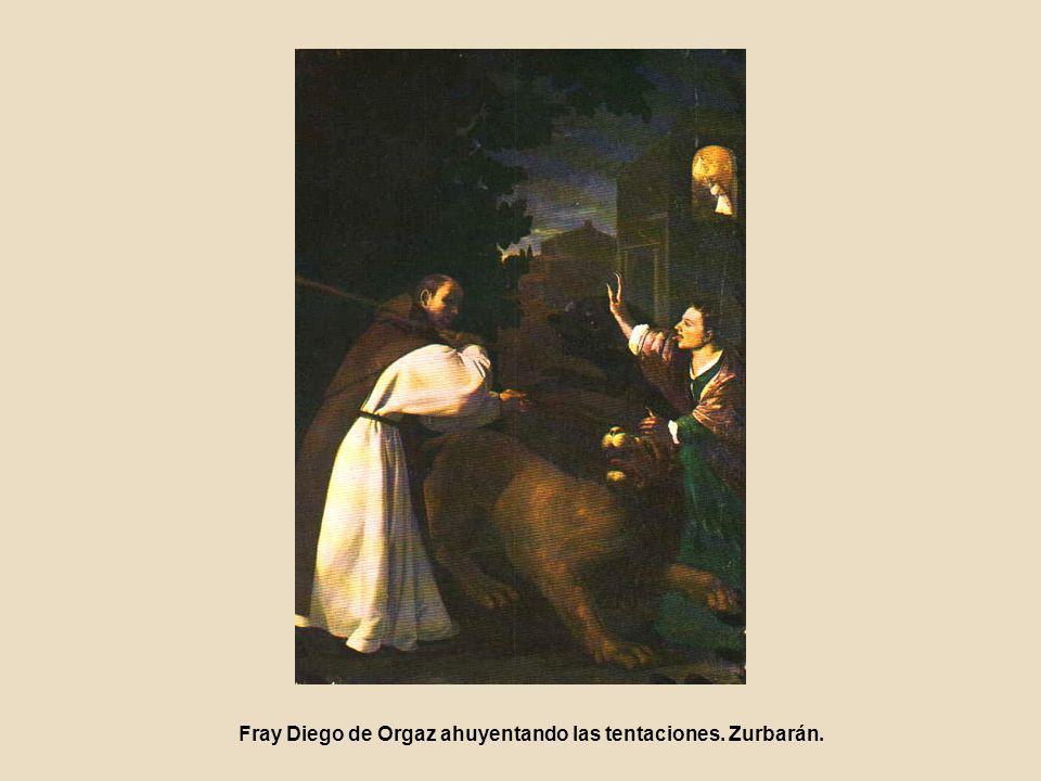 Fray Diego de Orgaz ahuyentando las tentaciones. Zurbarán.