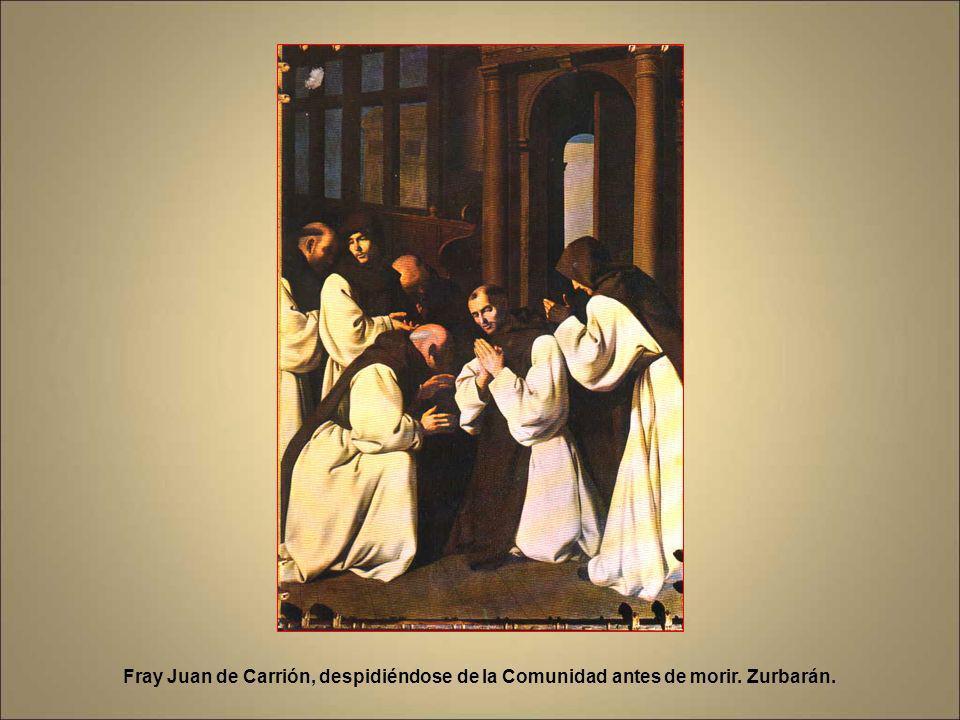 Fray Juan de Carrión, despidiéndose de la Comunidad antes de morir