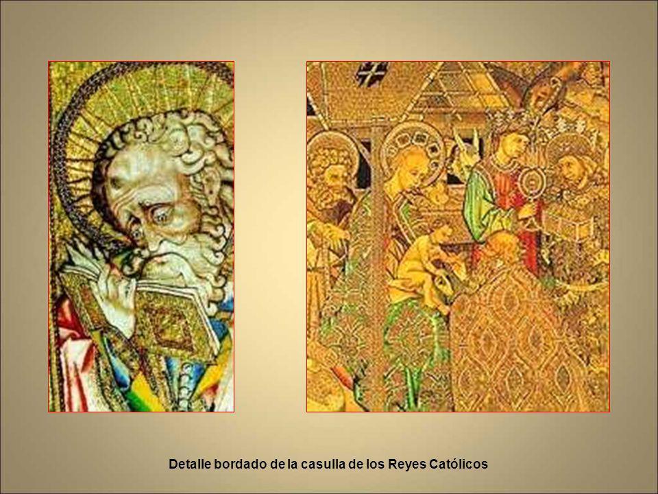 Detalle bordado de la casulla de los Reyes Católicos