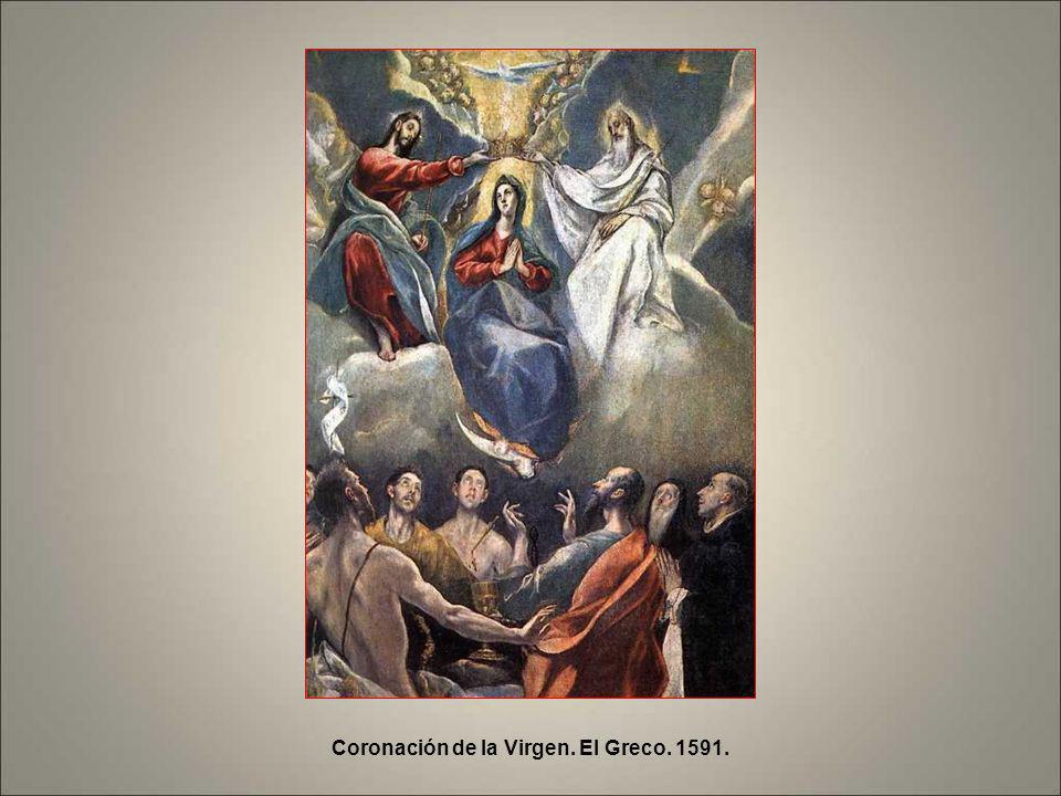 Coronación de la Virgen. El Greco. 1591.