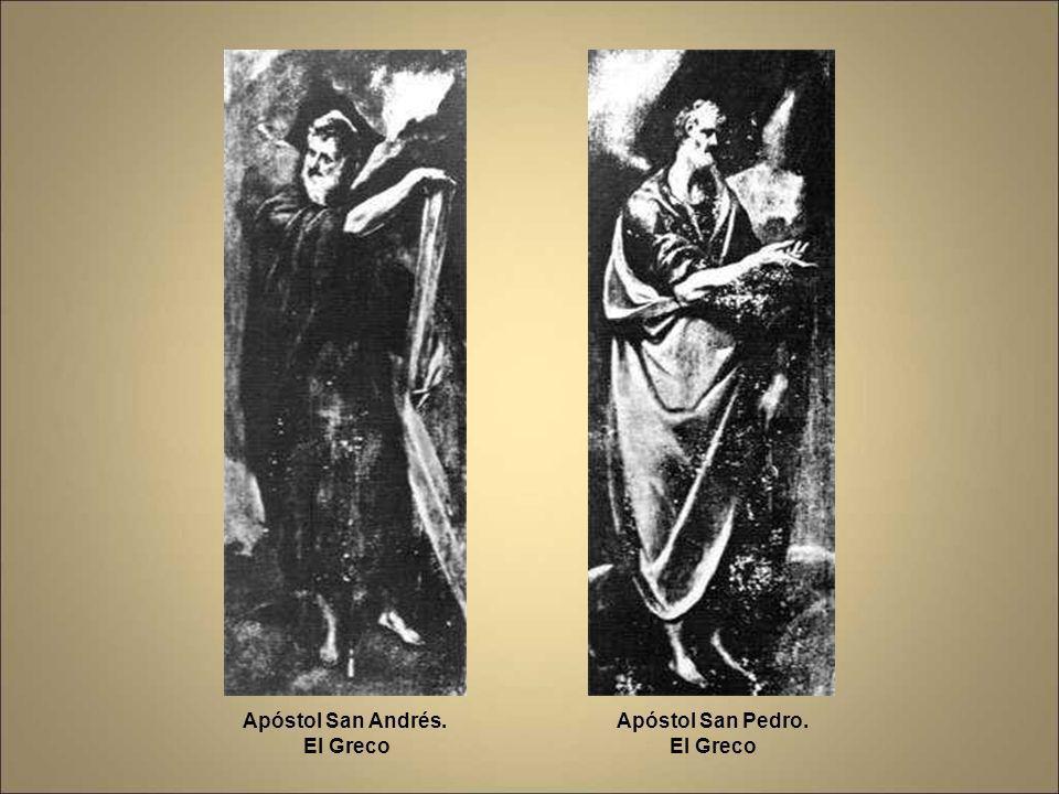 Apóstol San Andrés. El Greco Apóstol San Pedro. El Greco