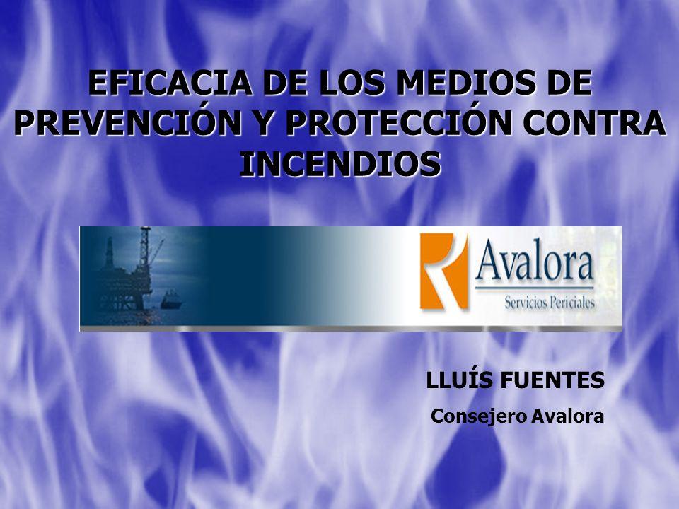 EFICACIA DE LOS MEDIOS DE PREVENCIÓN Y PROTECCIÓN CONTRA INCENDIOS