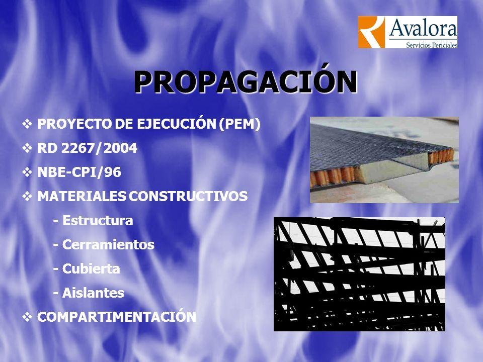 PROPAGACIÓN PROYECTO DE EJECUCIÓN (PEM) RD 2267/2004 NBE-CPI/96