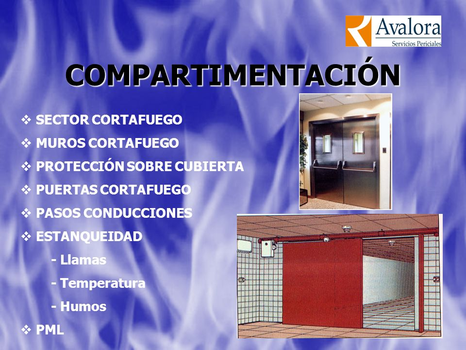 COMPARTIMENTACIÓN SECTOR CORTAFUEGO MUROS CORTAFUEGO