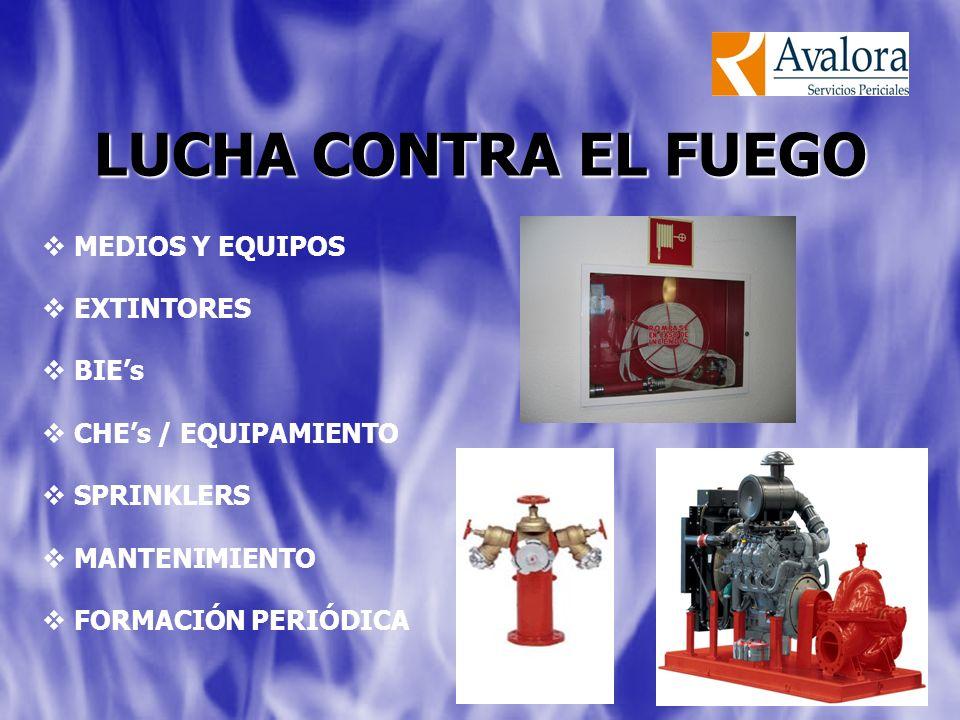 LUCHA CONTRA EL FUEGO MEDIOS Y EQUIPOS EXTINTORES BIE's