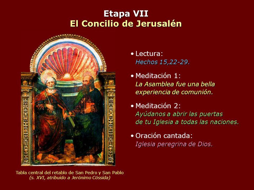 Etapa VII El Concilio de Jerusalén