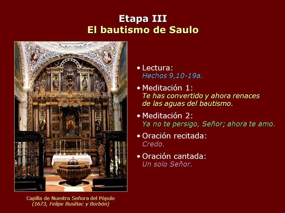 Etapa III El bautismo de Saulo
