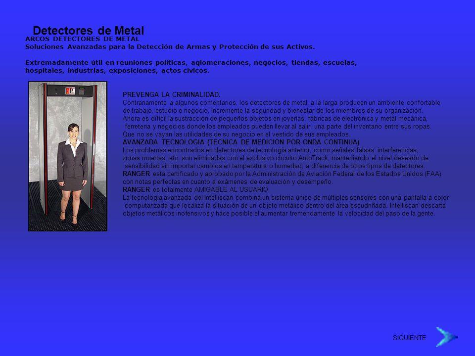 Detectores de Metal ARCOS DETECTORES DE METAL Soluciones Avanzadas para la Detección de Armas y Protección de sus Activos.