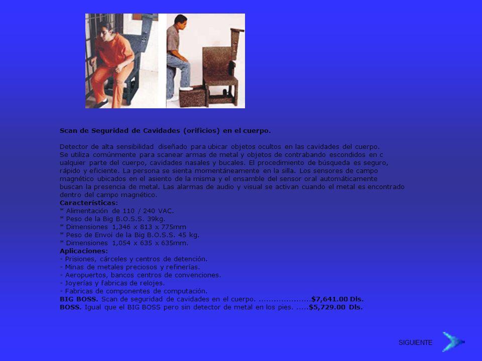 Scan de Seguridad de Cavidades (orificios) en el cuerpo.