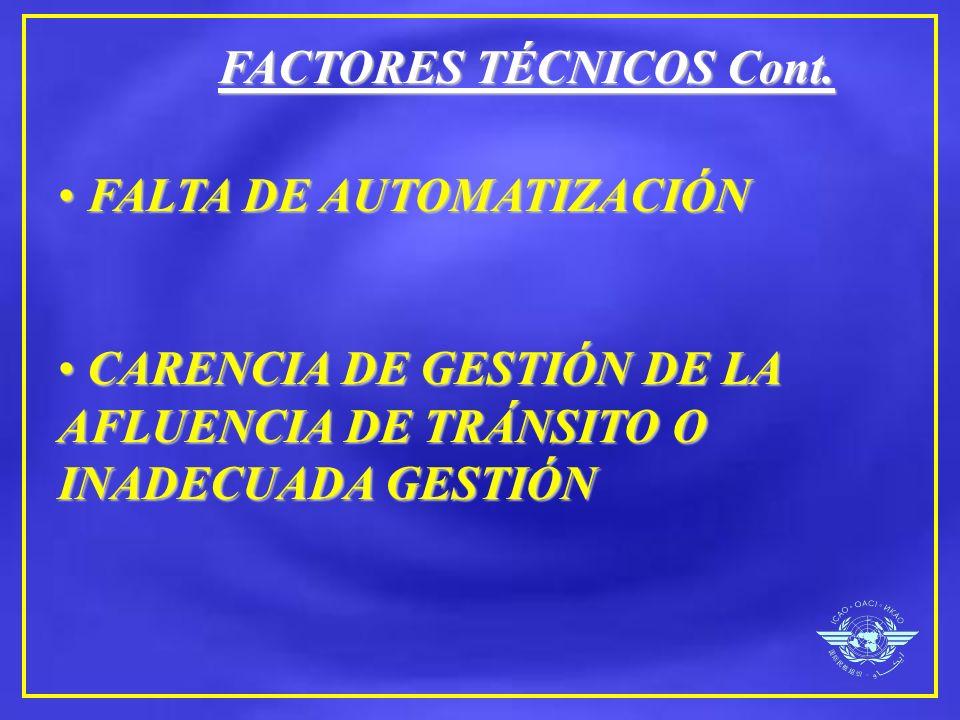 FACTORES TÉCNICOS Cont.