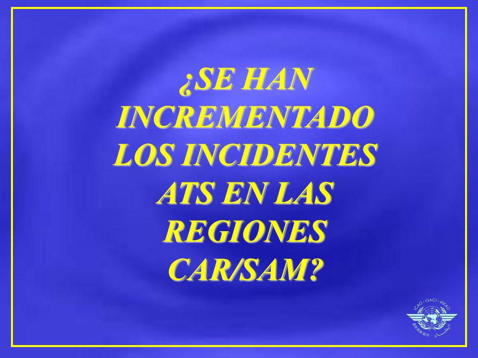 ¿SE HAN INCREMENTADO LOS INCIDENTES ATS EN LAS REGIONES CAR/SAM