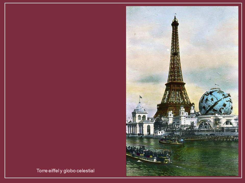 Torre eiffel y globo celestial