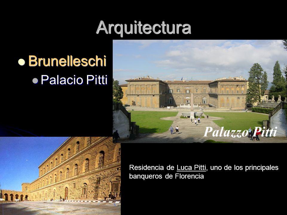 Arquitectura Brunelleschi Palacio Pitti
