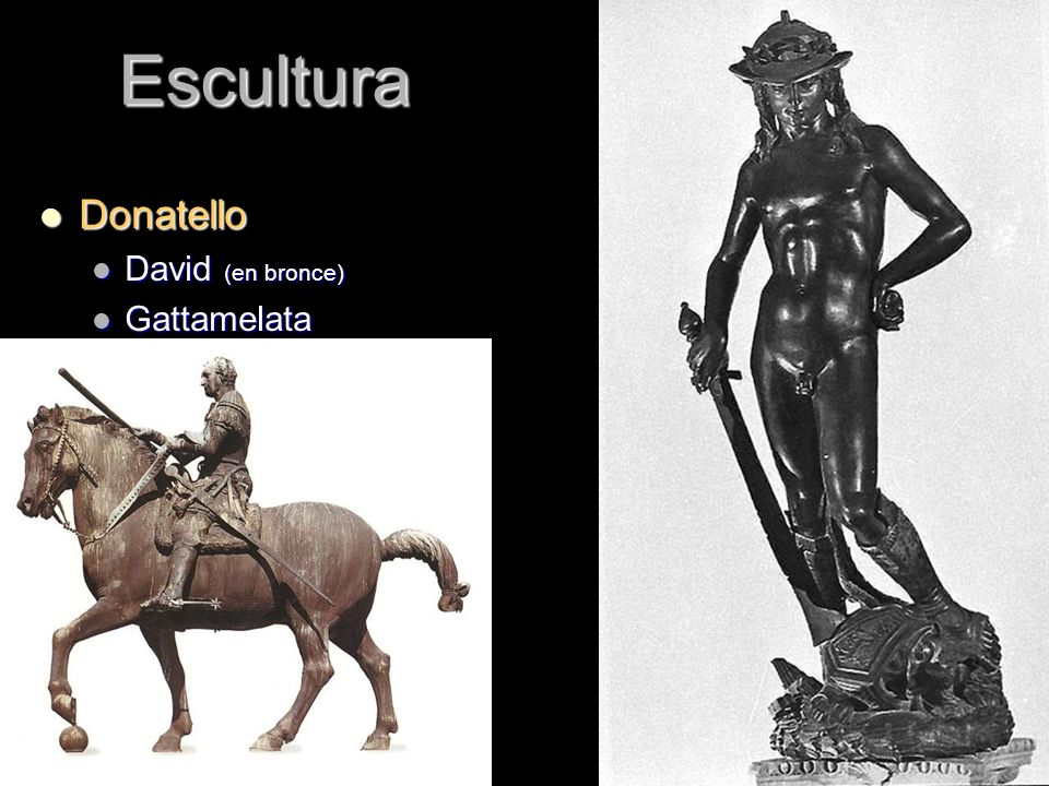 Escultura Donatello David (en bronce) Gattamelata