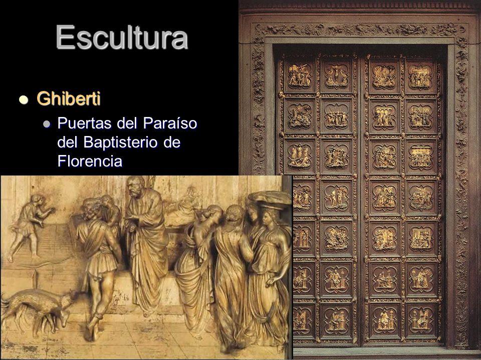 Escultura Ghiberti Puertas del Paraíso del Baptisterio de Florencia