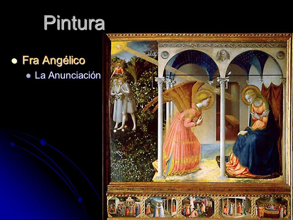 Pintura Fra Angélico La Anunciación
