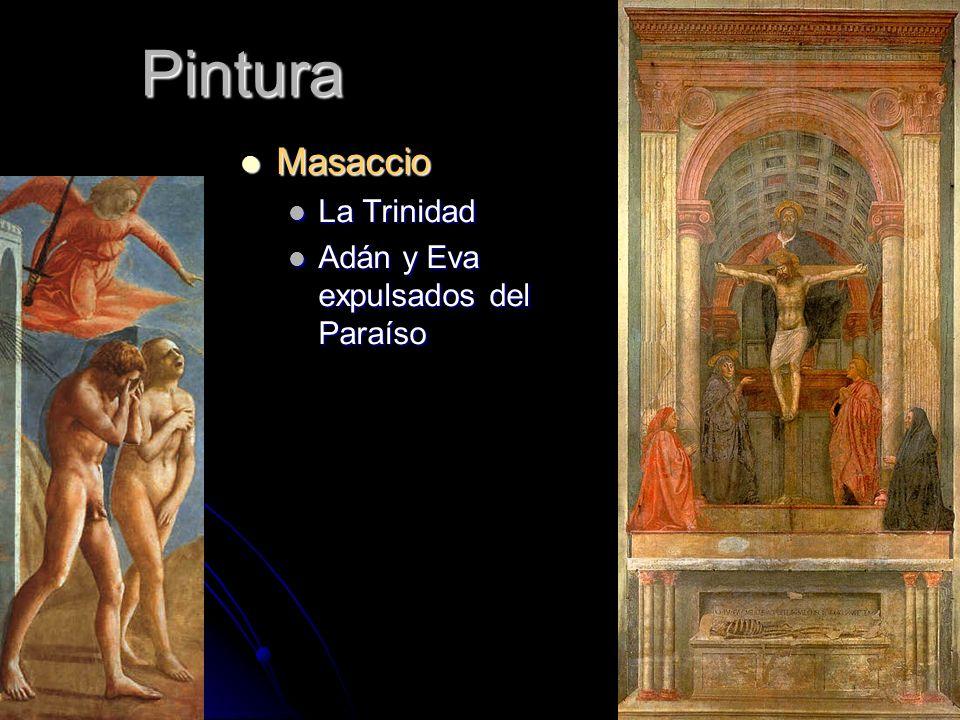 Pintura Masaccio La Trinidad Adán y Eva expulsados del Paraíso