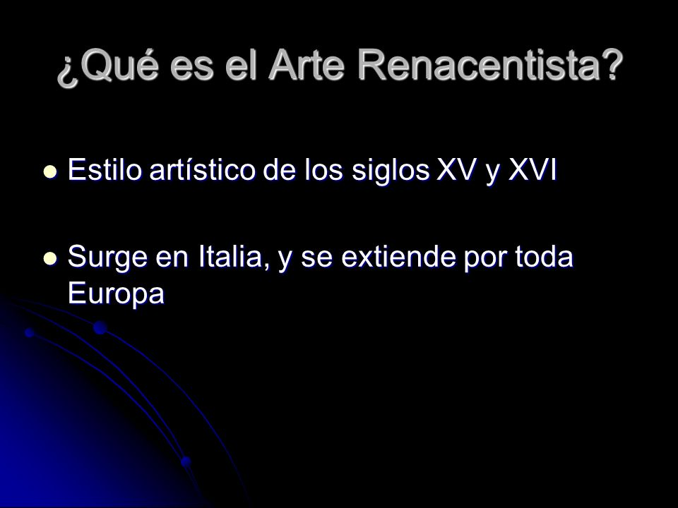 ¿Qué es el Arte Renacentista