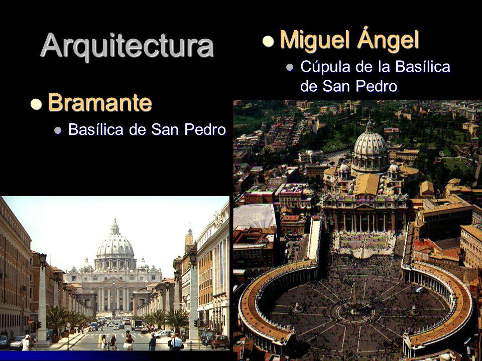 Arquitectura Miguel Ángel Bramante Cúpula de la Basílica de San Pedro