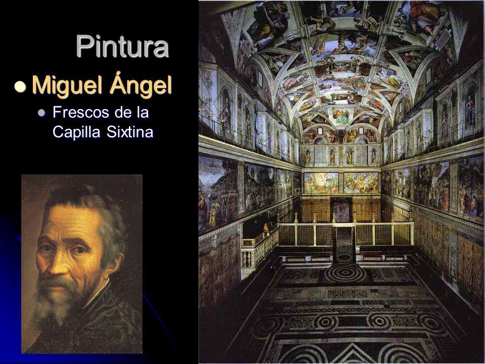 Pintura Miguel Ángel Frescos de la Capilla Sixtina