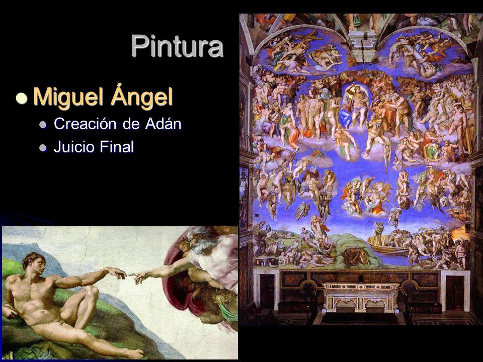 Pintura Miguel Ángel Creación de Adán Juicio Final